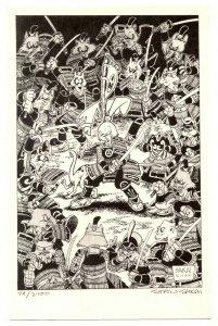 Usagi Yojimbo Print Signed by Stan Sakai 79/2700 1988