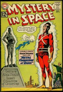 MYSTERY IN SPACE #79 DC 1962 ADAM STRANGE A-BOMB PANEL VG
