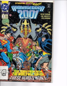 Dc Comics Armageddon 2001 Complete Set #1 and 2 1st Waverider and 1st Monarch