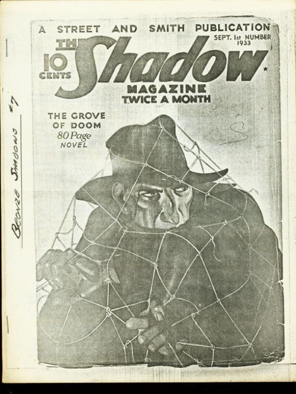 BRONZE SHADOWS 1966 NOV-#7-DOC SAVAGE PULP FANZINE-RARE VG/FN