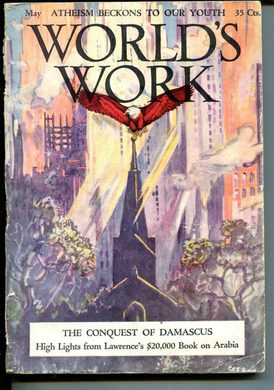 World's Work 5/1927-Doubleday-Woolworth-skyscrapers-prison-new cars-VG