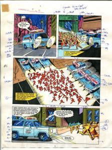 Elementals #9 Page #11 Original Color Guide Ken Feduniewicz