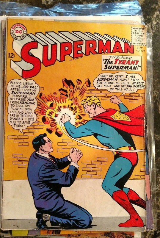 Superman #172 (DC, 1964) Condition: VG/FN