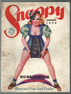 Snappy-8/1936-Peter Driben cover art-spicy interior art-pulp fiction-VG