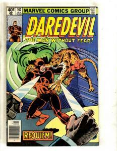 Daredevil # 162 FN/VF Marvel Comic Book Elektra Bullseye Frank Miller NP9
