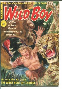 WILD BOY #5 1951-ZIFF-DAVIS-NORMAN SAUNDERS-GERALD MCCANN-JUNGLE MENACE-vg+