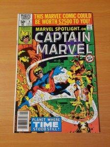 Marvel Spotlight #8 Captain Marvel ~ NEAR MINT NM ~ (1980, Marvel Comics)
