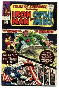 TALES OF SUSPENSE #62 comic book 1965-IRON MAN/CAPTAIN AMERICA-MARVEL-FN