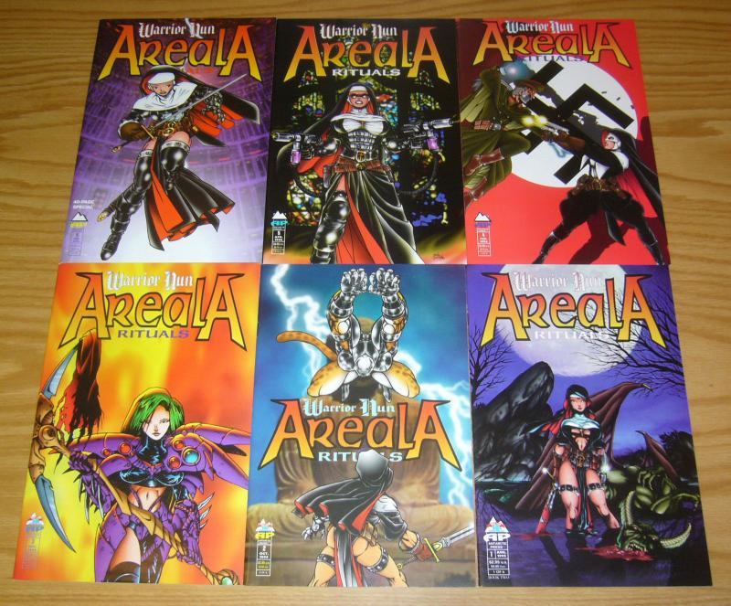 Warrior Nun Areala: Rituals #1-6 VF/NM complete series BEN DUNN bad girl comics