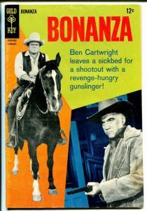 Bonanza #27 1967-Gold Key-Dan Blocker-Lorne Greene cover-TV series-VG
