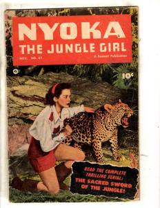Nyoka The Jungle Girl # 61 FN- Fawcett Publication Comic Book Photo Cover  JL1