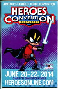 Heroes Convention Program Book 6/2014-Charlotte NC-artists-dealer info-VF