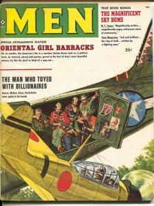 Men 8/1959 8/1959-Atlas-James Bama torture art-pulp thrills-cheesecake-VG