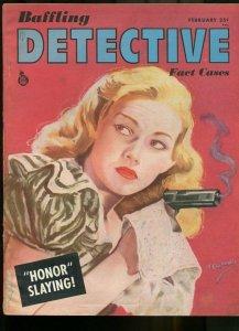 BAFFLING DETECTIVE FACT CASES FEB 1946-WILD TRUE CRIME-PULP-MAGAZINE VG/FN