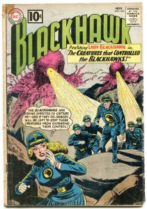 BLACKHAWK #166 1961-DC COMICS-WILD CREATURE COVER!!! G