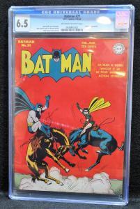 Batman #21 (DC, August 1944) - CGC 6.5