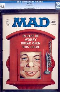 MAD MAGAZINE #167-CGC 9.6-ALFRED E. NEWMAN-NORMAN MINGO- 0229608001