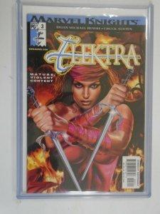 Elektra #3 8.0 VF less than 5000 uncensored copies exist (2001 1st Printing)