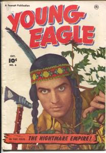 Young Eagle #6 1951-Fawcett-photo cover-rare issue-Nightmare Empire-VG
