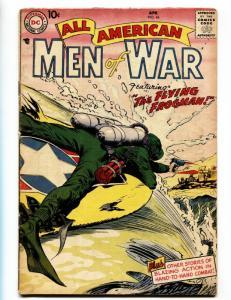 All American Men of War #44 Mickey Mantle ad-1957- Russ Heath- DC Comics- VG