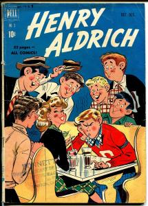 Henry Aldrich #3 1950-Dell-soda shop-ice cream-teen humor-Bill Williams-VG