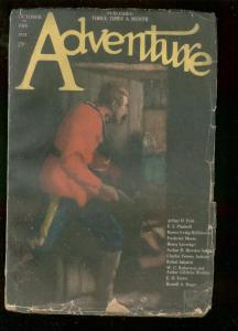 ADVENTURE PULP-OCT 10 1921-RCMP MOUNTIE COVER & STORY-good cond G