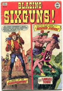 Blazing Six Guns #17 1964- Golden Age Western reprints- Severin VG
