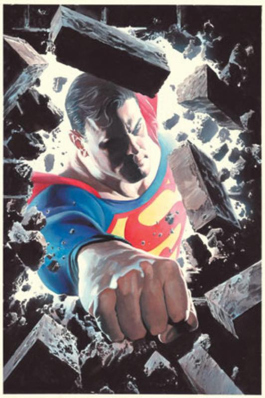 SUPERMAN Poster, Alex Ross, 22x34, 2005, Unused, JLA, Sealed, more DC in store