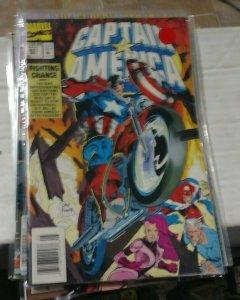 Captain America # 427 1991 marvel  fighting chance  super patriot