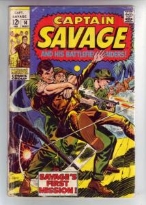 Captain Savage and His Leatherneck Raiders #14 (May-69) GD Affordable-Grade C...