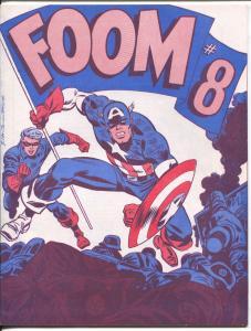 FOOM #8 1974-Marvel Comics fanzine-John Romita Capt America-VF