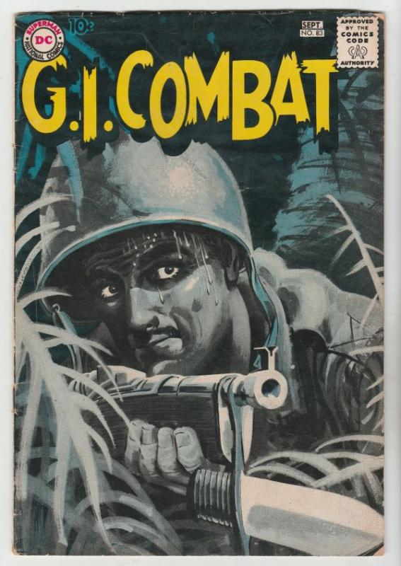 G.I. Combat #83 (Sep-60) VG/FN+ Mid-Grade Big Al, Little Al and Charlie Cigar