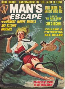 Man's Escape #2 6/1963-exploitation-cheesecake-WWII pulp thrills-FN