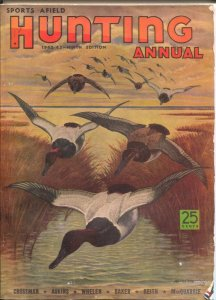 Sports Afield Hunting Annual 1942-W J Wilwerding cover art-hunting laws-old w...