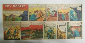Roy Rogers Sunday Page by Al McKimson from 5/7/1950 Size 7.5 x 15 inches