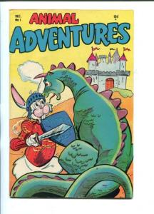ANIMAL ADVENTURES #1- 1953-DRAGON COVER-SOUTHERN STATES-vf