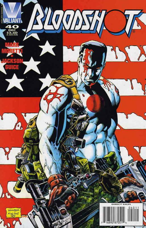 Bloodshot #40 VF/NM; Valiant | save on shipping - details inside