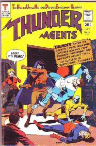 T.H.U.N.D.E.R. Agents #6 (Jul-66) FN- Mid-Grade Dynamo, No-Man, Lightning
