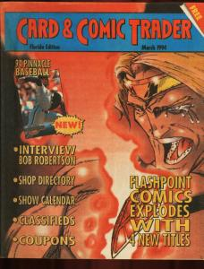 CARD AND COMIC TRADER 1994 MAR-FLASHPOPINT COMICS FN/VF