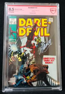 Daredevil #47 (Marvel, 1968) CBCS 8.5 signed by Stan Lee verified