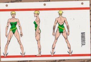 Official Handbook of the Marvel Universe Sheet - Namorita