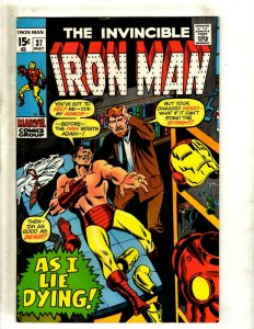 Iron Man # 37 VF/NM Marvel Comic Book Avengers Hulk Thor Captain America J462