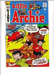 Little Archie #72 (Jul-72) VF/NM High-Grade Little Archie, Little Veronica, L...