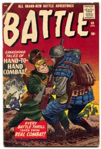 BATTLE #69-1959-JACK KIRBY COMMIE COVER-SILVER AGE COMIC- f/vf
