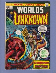 Worlds Unknown #1 VG/FN Marvel 1973