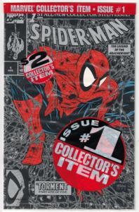 Spider-Man Black Bagged A #1 (Aug-90) NM/MT Super-High-Grade Spider-Man