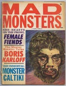 ORIGINAL Vintage Summer 1962 Charlton Mad Monster Magazine Boris Karloff