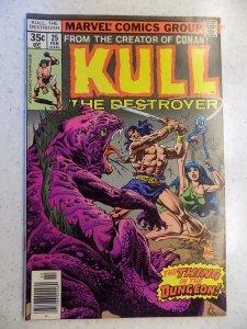 KULL THE DESTROYER # 25 MARVEL FANTASY CONAN SWORD SORCERY PLOOG COVER