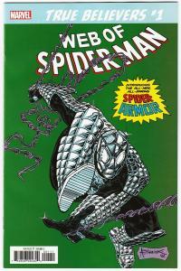 True Believers Spider-Armor #1 Reprints Web Of Spider-Man #100 (2019) NM