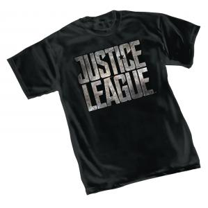 JUSTICE LEAGUE MOVIE LOGO T-SHIRT X-LARGE  GRAPHITTI DESIGNS NEW